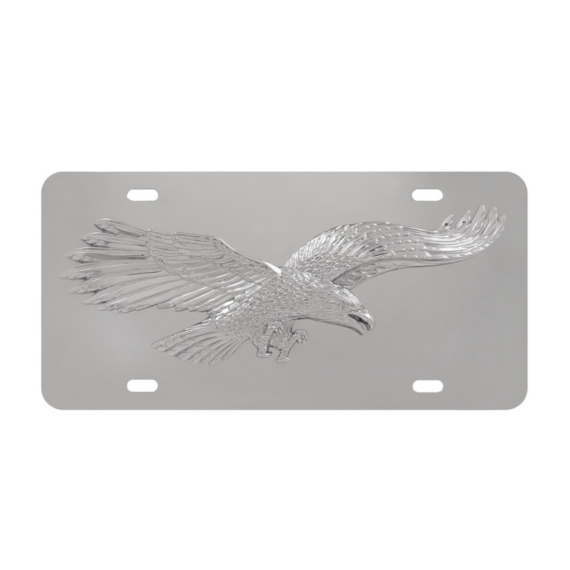 stainless steel 3 d eagle license frame abs plastic decal - Eagle License Plate Frame