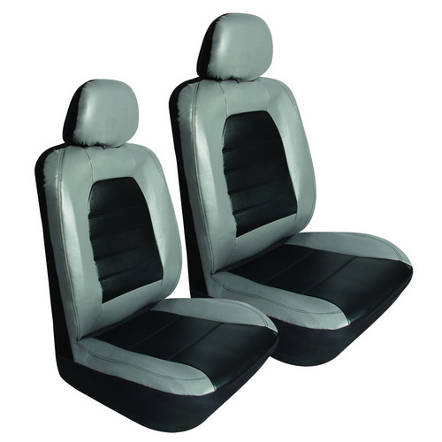 Super Sport 6 Pc. Synthetic Leather Seat Cover   Grey